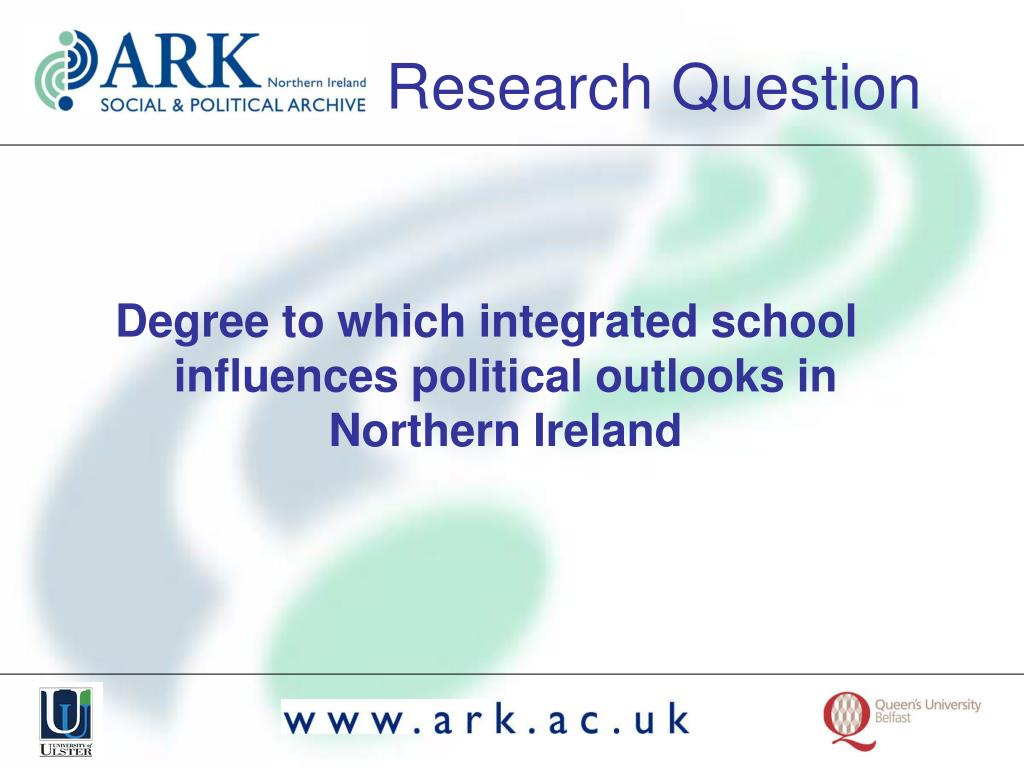 Degree to which integrated school influences political outlooks in Northern Ireland
