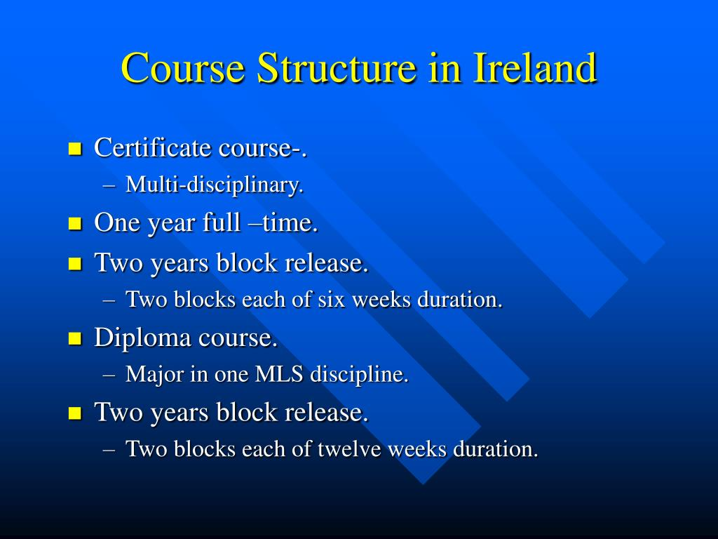 Course Structure in Ireland