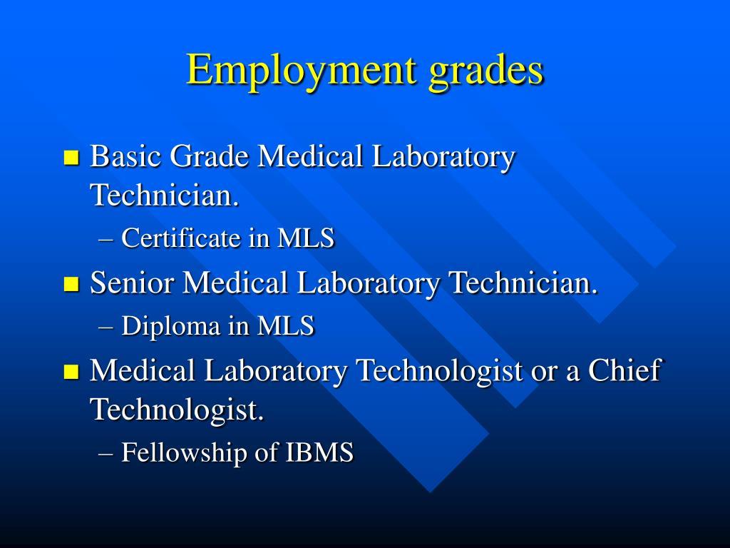 Employment grades
