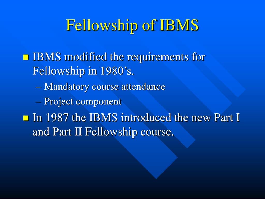 Fellowship of IBMS