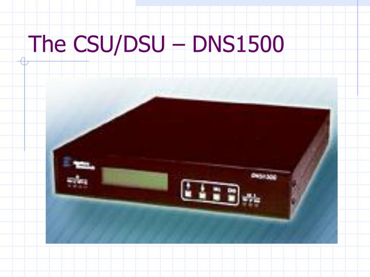 The CSU/DSU – DNS1500