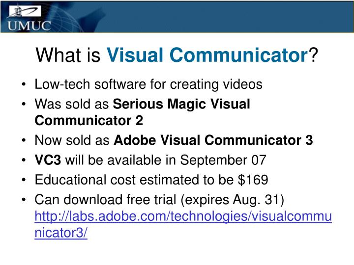 What is visual communicator