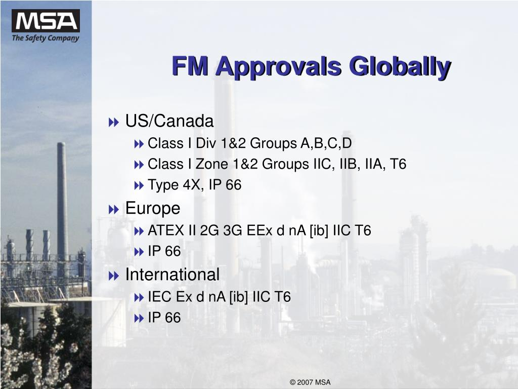 FM Approvals Globally