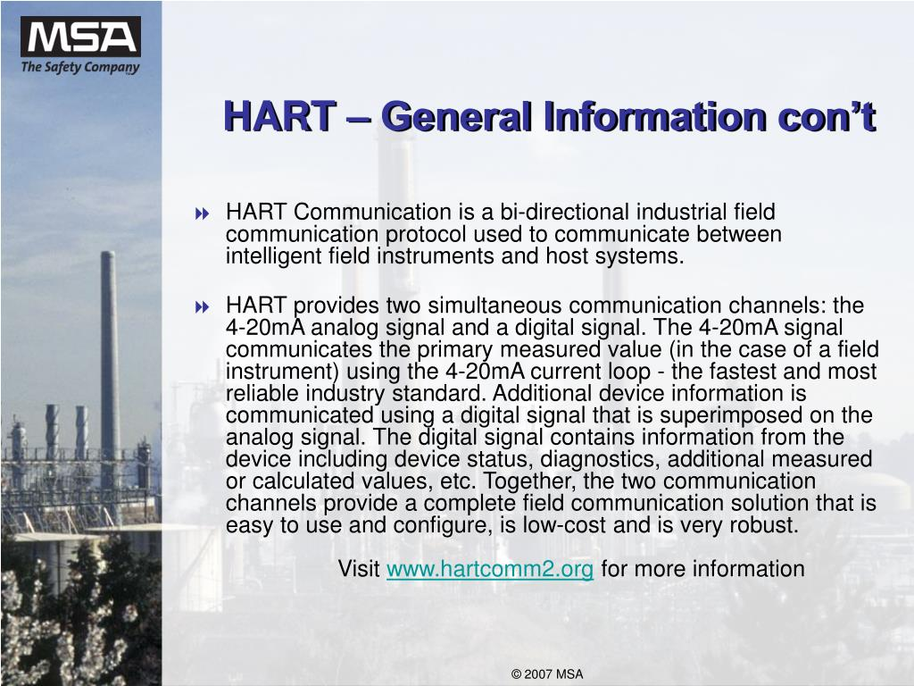 HART – General Information con't