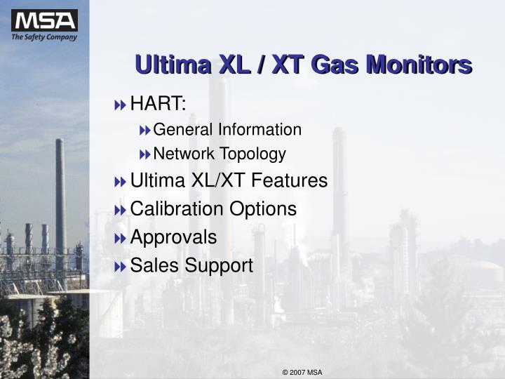 Ultima xl xt gas monitors