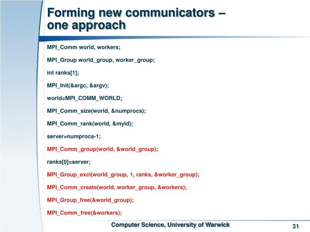 Forming new communicators –