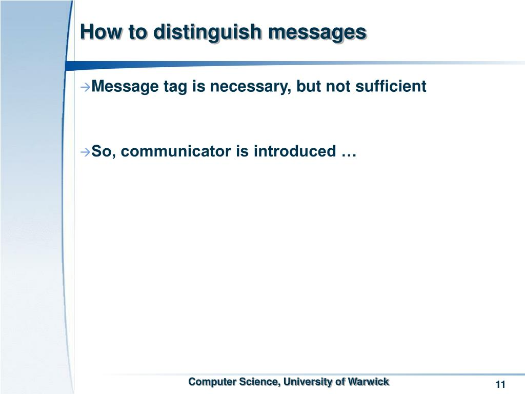 How to distinguish messages