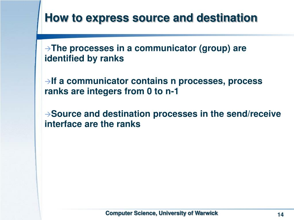 How to express source and destination