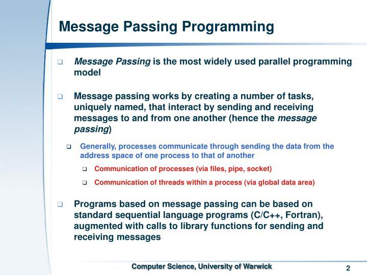 Message passing programming