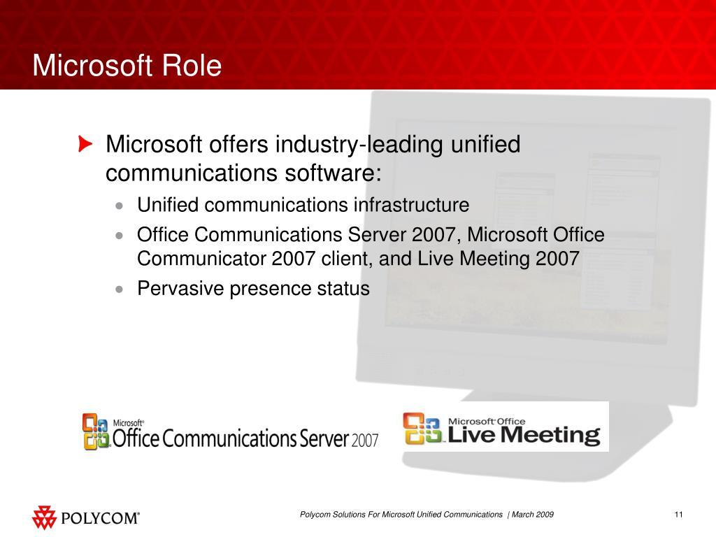 Microsoft Role