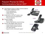 polycom phones for office communications server 2007