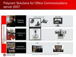 polycom solutions for office communications server 2007