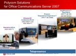 polycom solutions for office communications server 200736