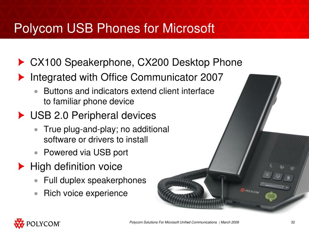 Polycom USB Phones for Microsoft