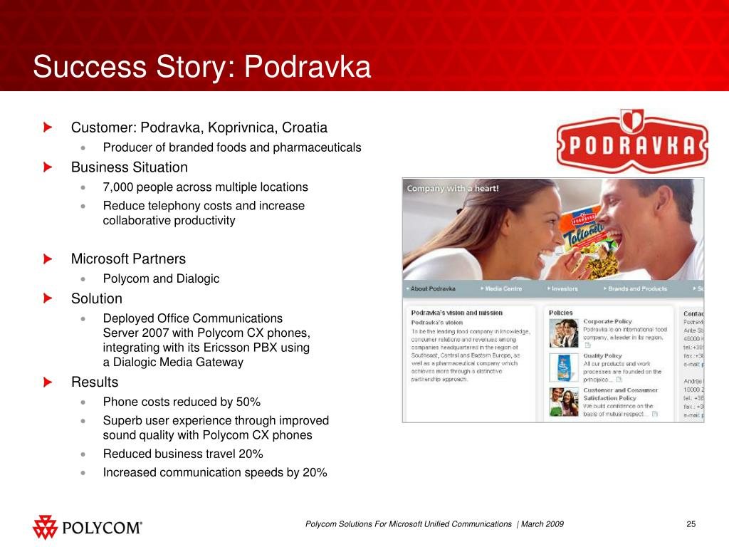 Success Story: Podravka