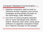 computer mediated communication 1 2