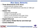 blue gene networks