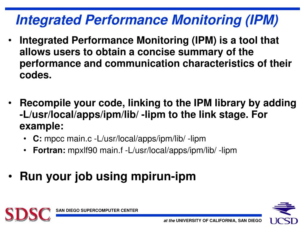 Integrated Performance Monitoring (IPM)
