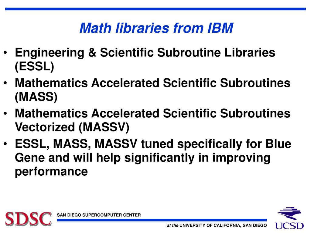 Math libraries from IBM