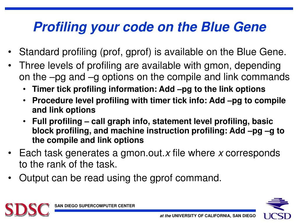 Profiling your code on the Blue Gene