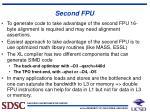second fpu