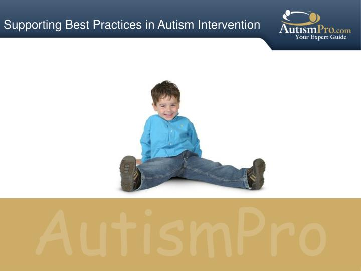 supporting best practices in autism intervention n.