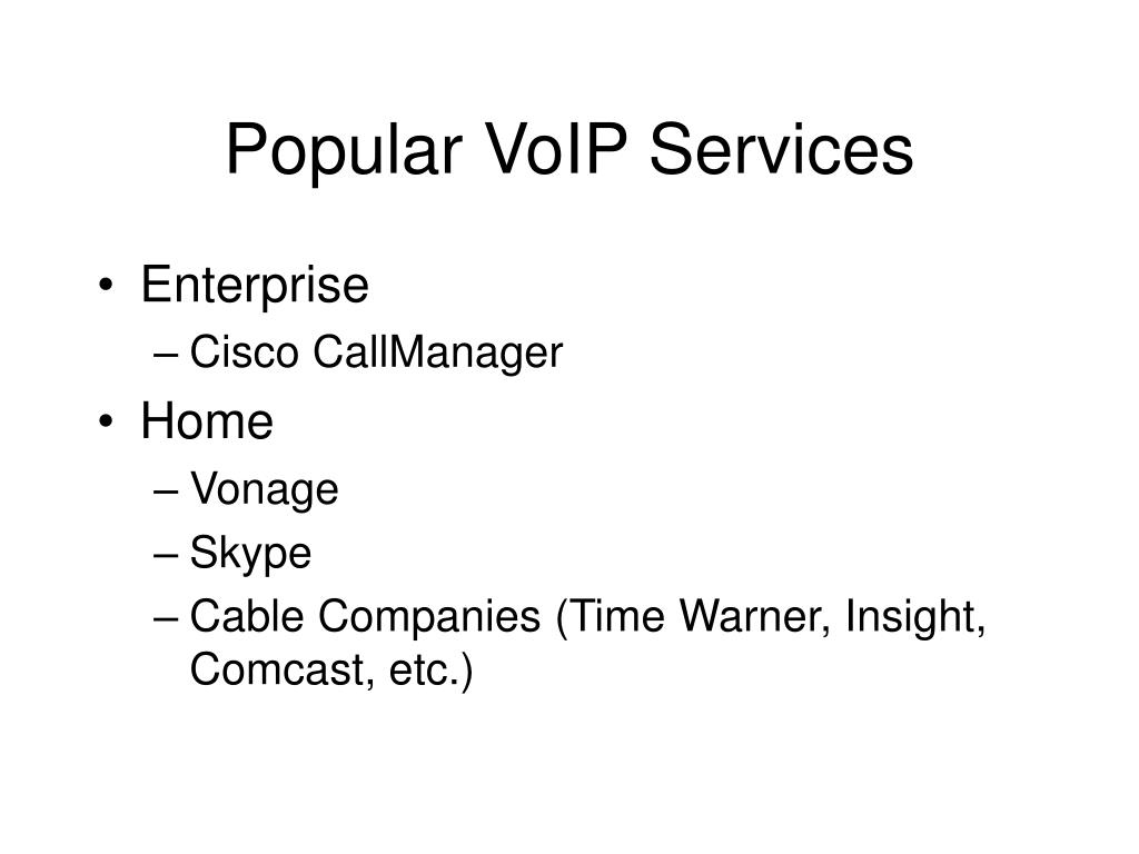Popular VoIP Services