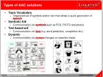 types of aac solutions