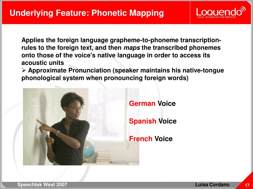 Underlying Feature: Phonetic Mapping