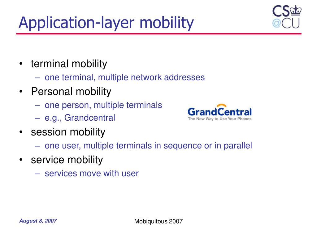 Application-layer mobility