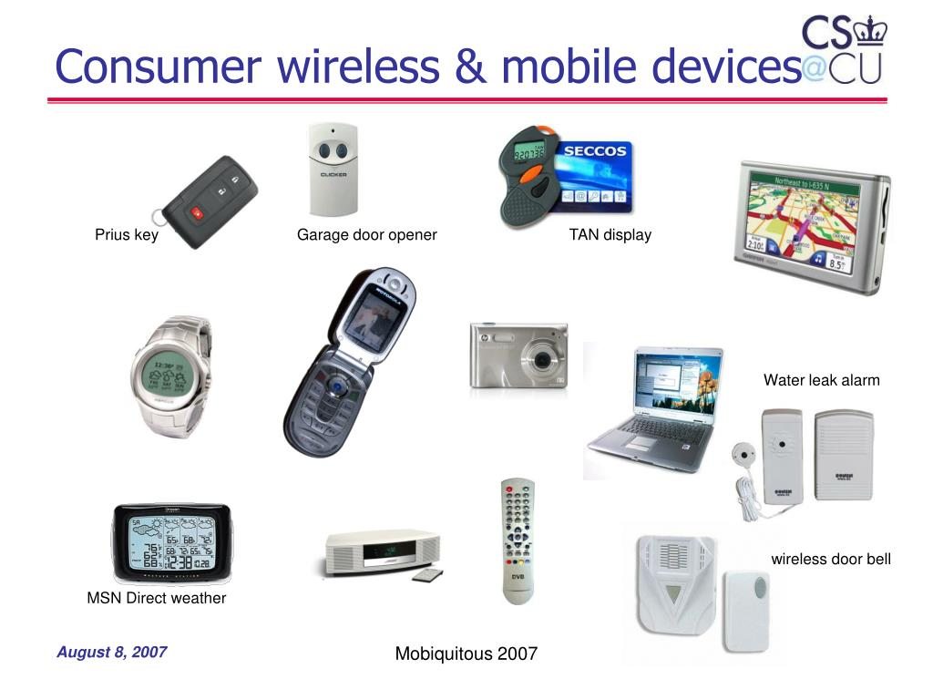 Consumer wireless & mobile devices