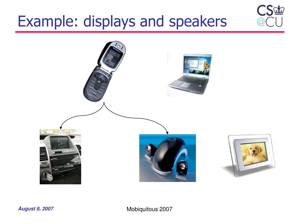 Example: displays and speakers
