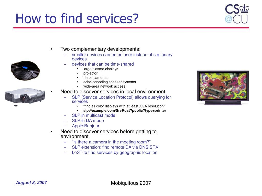 How to find services?