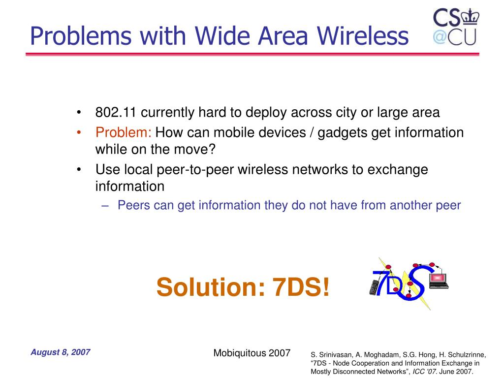 Problems with Wide Area Wireless