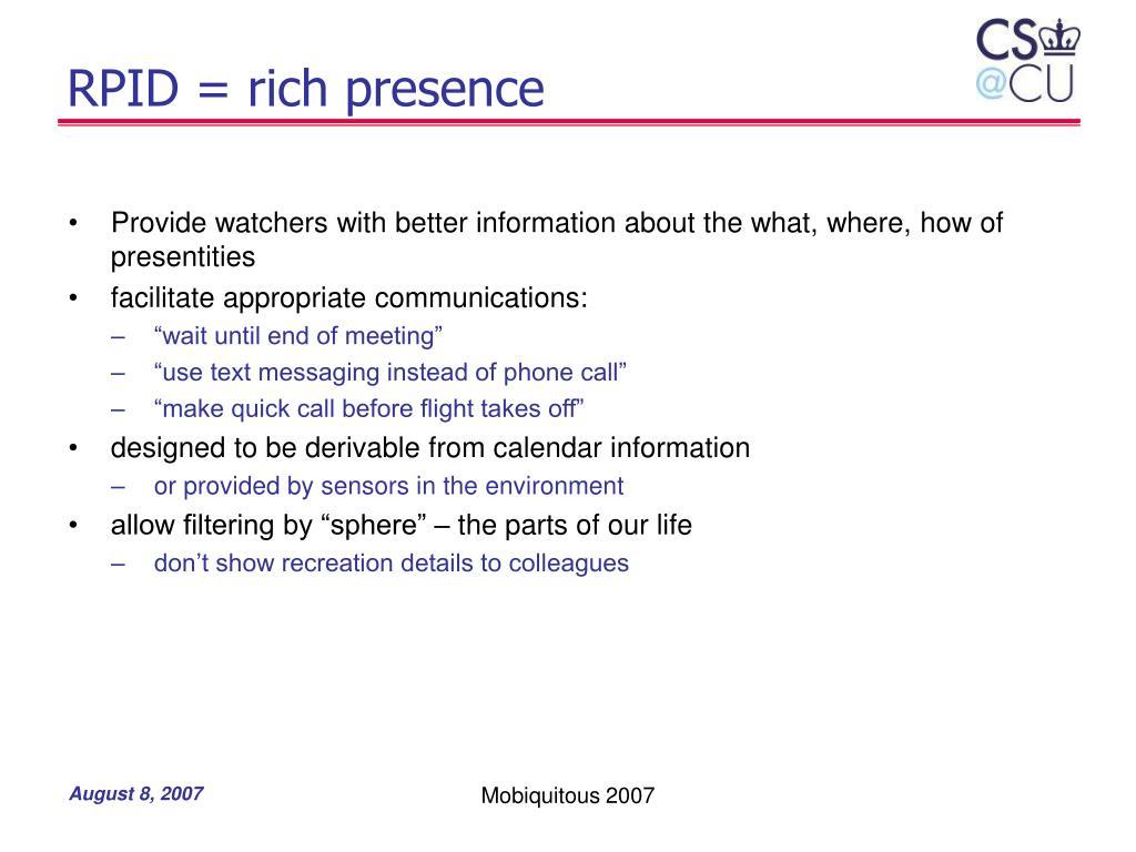 RPID = rich presence
