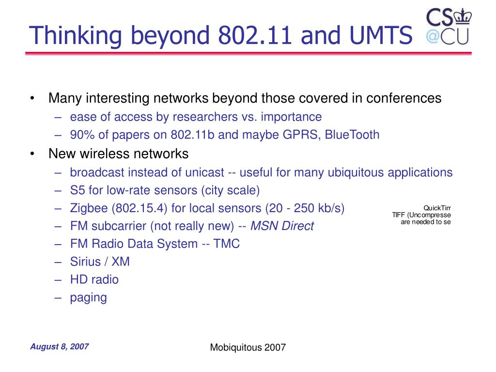 Thinking beyond 802.11 and UMTS