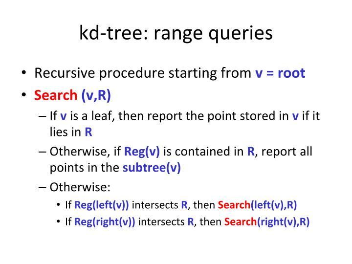 kd-tree: range queries