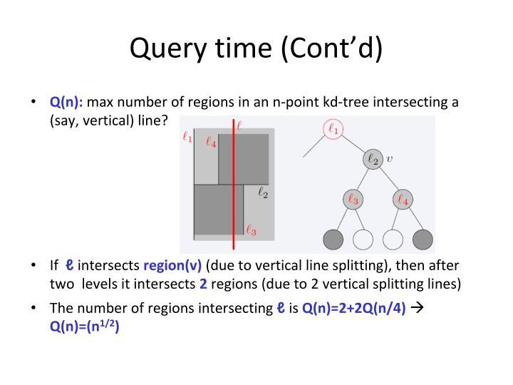 Query time (Cont'd)