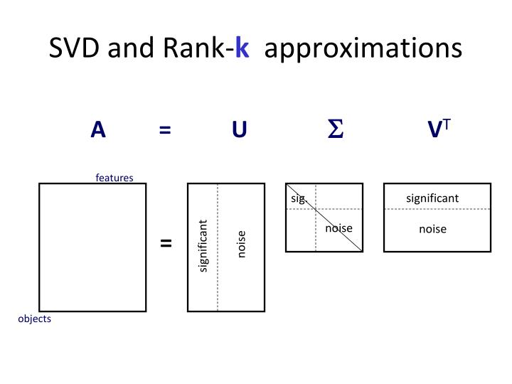 SVD and Rank-