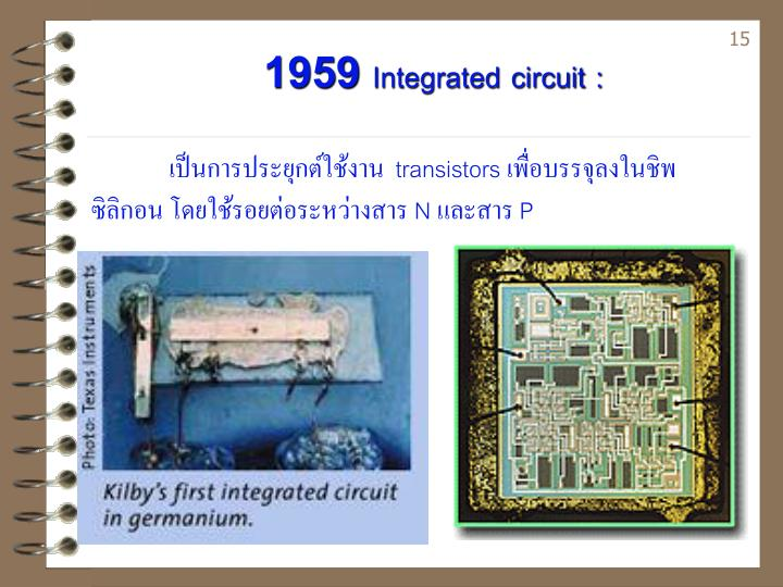 1959 Integrated circuit :