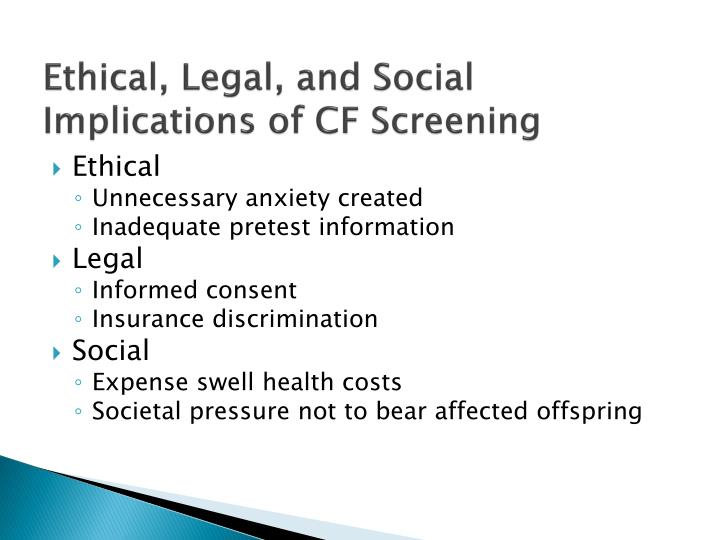 Ethical, Legal, and Social Implications of CF Screening