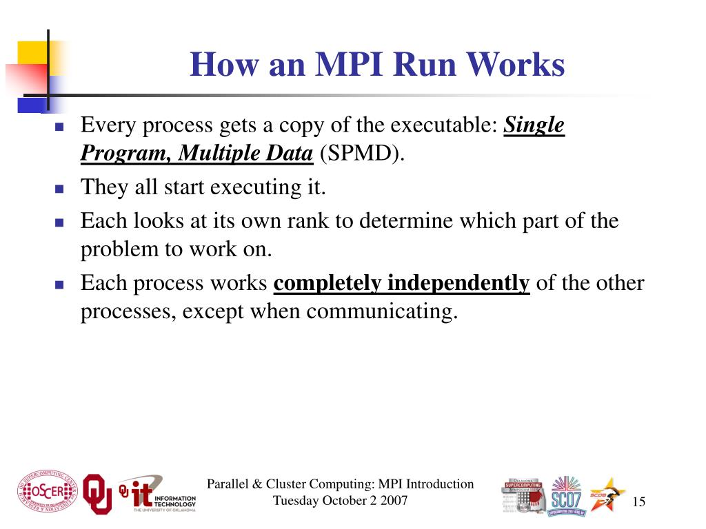 How an MPI Run Works