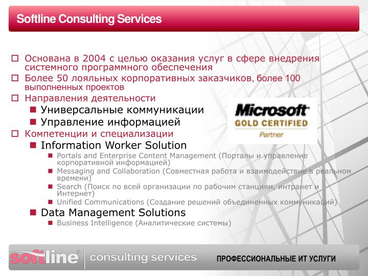 Softline consulting services
