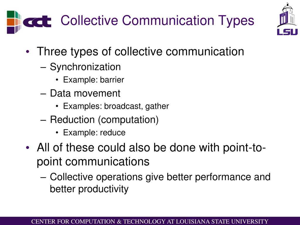 Collective Communication Types