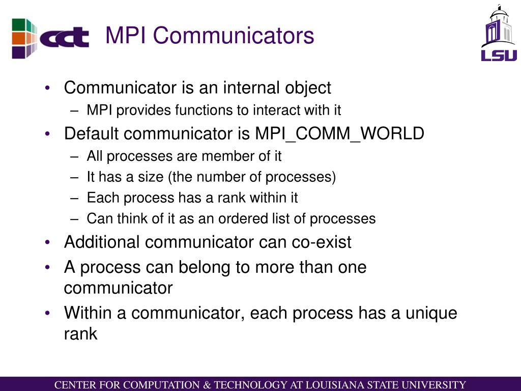 MPI Communicators