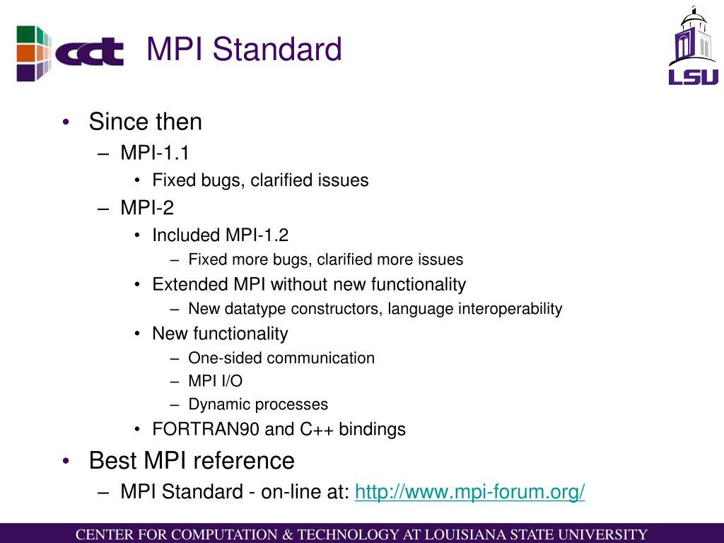 MPI Standard