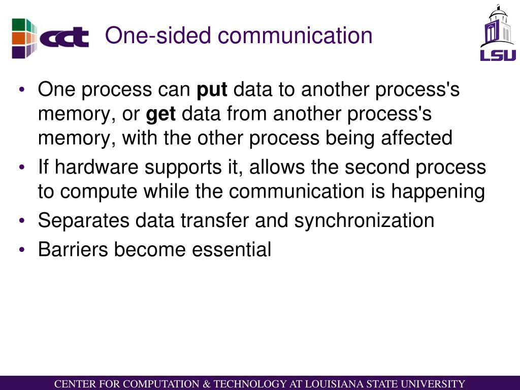 One-sided communication