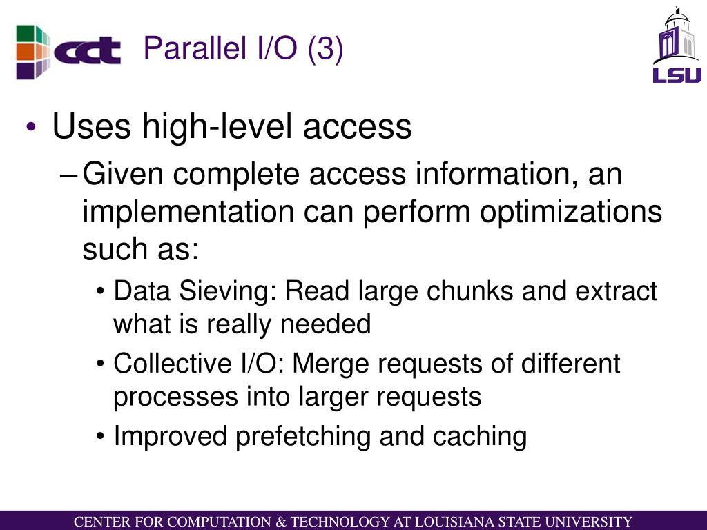 Parallel I/O (3)
