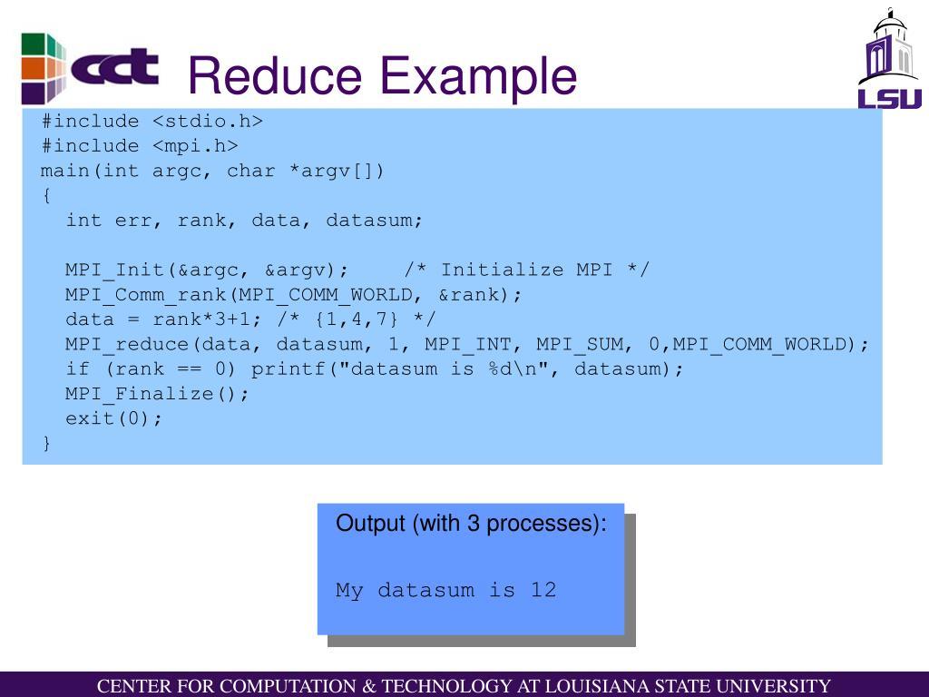 Reduce Example