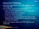 deployment challenges